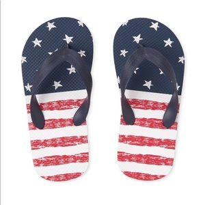 NWT Children's Place Americana Flip Flops 1-2